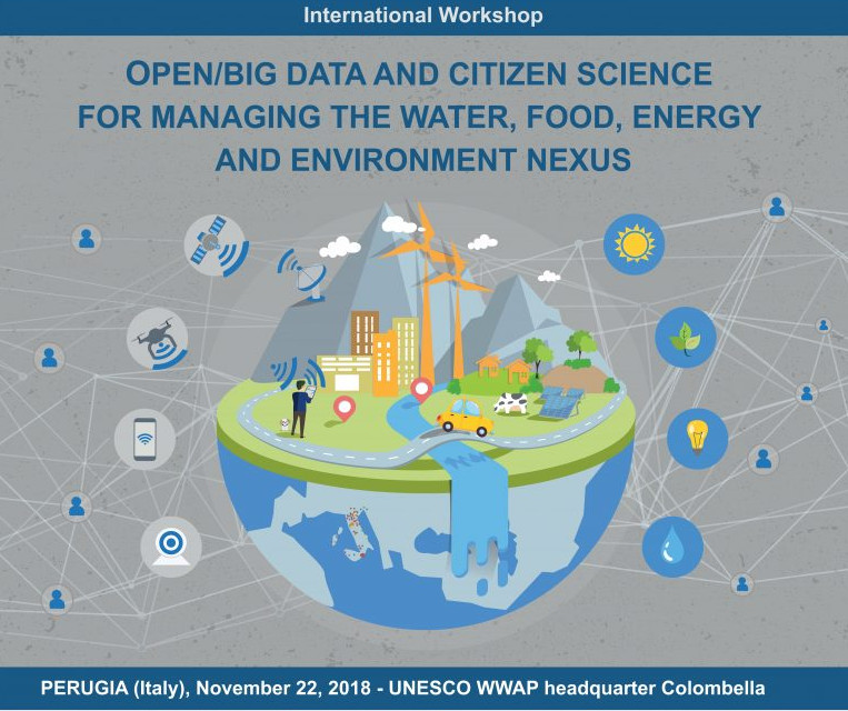 OPEN/BIG DATA E CITIZEN SCIENCE FOR MANAGING THE WATER, FOOD, ENERGY AND ENVIRONMENT NEXU