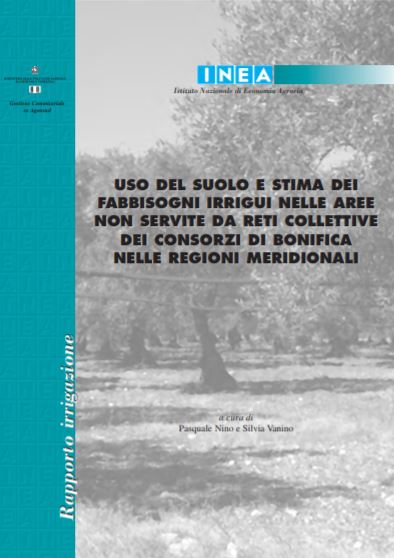 Land use and estimation of irrigation requirements in areas not served by collective networks of reclamation consortia in the southern regions